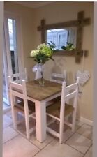 Rustic, Farmhouse Dining Table and 4 Chairs Hand Crafted