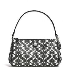 Coach Peyton Dream Top Handle Shoulder Pouch Handbag Black White NWT