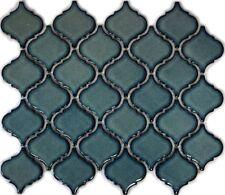 Mosaïque carreau céramique Florentine bleu tacheté brillant 13-0408_f |10plaques