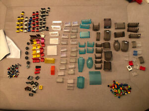 LEGO bundle Of Car Parts. Steering Wheels,  Windscreen, Handbreaks, Seat, Lighte