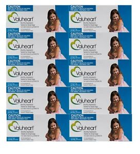 Valuheart Heartworm Tablets for Small Dogs Upto 10kg Monthly Dosage 10 X 6 Pack