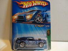 2005 Hot Wheels Treasure Hunt #127 Blue Mustang Mach 1 w/Real Riders