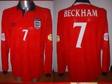 England Beckham XXL L/S Shirt Jersey Football Soccer Umbro Man Utd World Cup