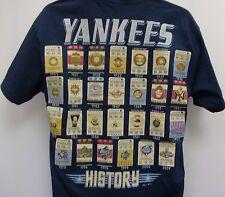 New York Yankees Majestic Team History T- Shirt - Adult Large Free Ship