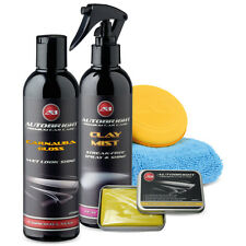 Autobright Carnauba Gloss Car Wax & 100g Medium Clay Bar & Clay Mist Kit