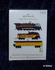 2012 Hallmark LIONEL CHESSIE STEAM SPECIAL Set of 3 Miniature Train Ornaments