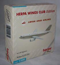 Herpa Wings-Libyan Arab Airlines-Airbus A310-200 m/w Reg. Maßstab 1:500 #512619