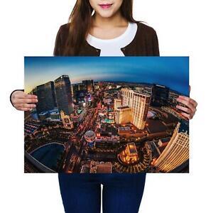 A2   Las Vegas America Nevada Casino Size A2 Poster Print Photo Art Gift #13141