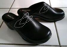 LADIES RIALTO STUDDED SLIP-ON SHOES - BLACK/TUMBLED SMOOTH - SIZE 9 - NIB