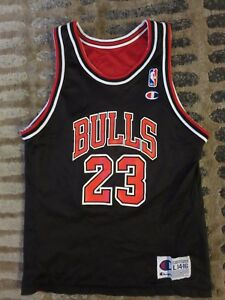 Michael Jordan #23 Chicago Bulls NBA Champion Nero Maglia Ragazzi L 14-16