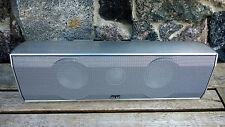 Elac Cinema XL 2-Wege Center - Lautsprecher Box silber * gebürstetes Alu * 80 W