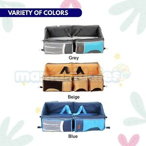 3 in 1 Baby Bed Portable Baby Travel Cot Crib Diaper Bag Foldable Carry Cot