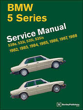 BMW 5 Series Official Service Manual 1982-1988: 528e, 533i, 535i, 535is (E28) by