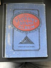 STAMPS - THE VICTORY STAMP ALBUM- OLD BUT CLEAN PAGES, FEW ODD STAMPS GOOD START