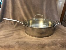 Cuisinart High Impact Bonded Base 6 qt Induction Ready Fry Saute Pan & Glass Lid