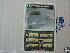 22 SUPER TRAIN E3 YAMAGATA SKINKANSEN 400 TREIN KWARTET KAART, QUARTETT CARD
