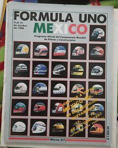 Mexico 1986 Formula 1 Official Program