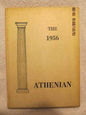 1956 Yearbook Crawfordsville High School IN Athenian Grades 7-12 With Signatures
