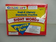 Childcraft PreK-K Literacy Standards Practice Sight Words Practice Pack New