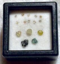 NATURAL ROUGH AFRICAN DIAMOND MIX LOT (15) LOOSE. UNHEATED.  (L6744