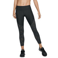 Under Armour UA HeatGear Black Balance Mesh Ankle Crop Sports Gym Leggings XL
