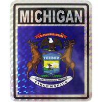 "State of Michigan Reflective Decal Bumper Sticker 3.875"" x 3"""