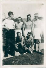 Photo Royal Navy Servicemen  on  Shore leave 1950 in trunks