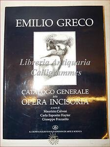 INCISIONE: Catalogo Generale Opera Incisoria di EMILIO GRECO 1995 Cigno Galileo