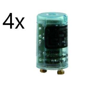 4 x Leuchtstoffröhren Schnell Starter 0,3s / 4-125W Sofortstarter