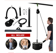Home Gym Equipment Pulley Lifting Rope DIY Triceps Biceps Build Up Muscles
