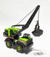 Maisto Tonka Hasbro Mighty Mini Crane truck #758 Lime Green 1/64, diecast, 1998