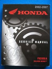 2002 - 2007 Honda FSC600 A Silver Wing Factory Service Shop Repair Manual  P7