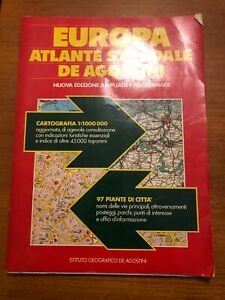 Europa Atlante stradale De Agostini 1989