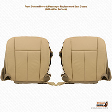 2011 2012 Ford Expedition DRIVER & PASSENGER Bottom Leather Seat Cover TAN