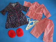 American Girl Molly's Pajamas Robe & Fuzzy Wuzzies ~ Retired ~ Pleasant Company