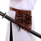 Medieval Cosplay Rapier Frog Holster Lace Up Holder Belt With Belt For 3 Swords