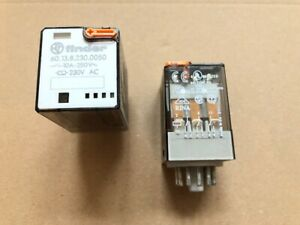 1 Piece 60.13.8.230.0050 Finder Relay/Relay : 230VAC 10A 3W LED 11 Pin