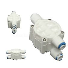 4 Way 1/4'' Port Auto Shut Off Valve For RO Reverse Osmosis Water Filter System:
