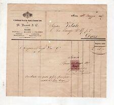 fattura antica - RICORDI E C. STABILIMENTO ROMA 1897