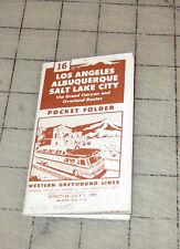 Western Greyhound #16 (July 1, 1959) Pocket Folder Time Tables - La - Salt lake