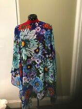 new MARY KATRANTZOU beach coverup kaftan AND swimsuit about uk12