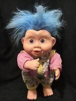 "Vintage 1991 Applause Magic Troll Babies Doll Blue Hair 14"""