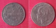 moneta Vittorio Emanuele II (1861-1878) 5 cent. 1861 zecca Mi - rame rosso