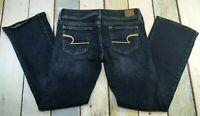 American Eagle Womens Slim Boot Stretch Jeans Size 6 SHORT (31X30) DARK WASH