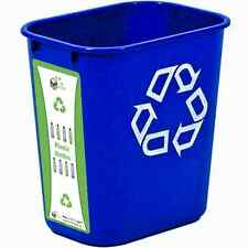 7 Gallon Recycling Bin With Plastic Bottles Label
