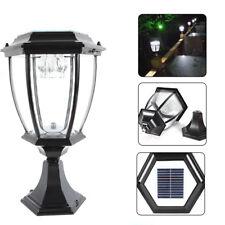 Waterproof Outdoor Yard Light LED Solar Power Lantern Landscape Pillar Post Lamp