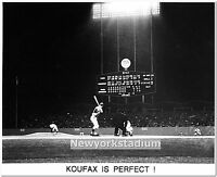 Brooklyn Dodgers- Sandy Koufax Perfect Game -Los Angeles Dodger Stadium