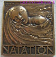 MED4483 - MEDAILLE NATATION ART DECO par MONIER 1940 - FRENCH MEDAL