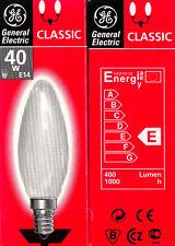 10 Stück GENERAL ELECTRIC Glühbirne KERZE MATT 40Watt 240 Volt E14 Glühlampe OVP