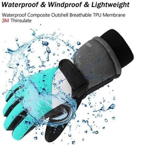 Ski Gloves,Winter Waterproof Snowboard Snow 3M Thinsulate Warm Touchscreen Finge